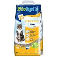 Biokat's Classic 3in1 Cat Litter Highly Absorbent Odour Binding Clumping 20L Bag