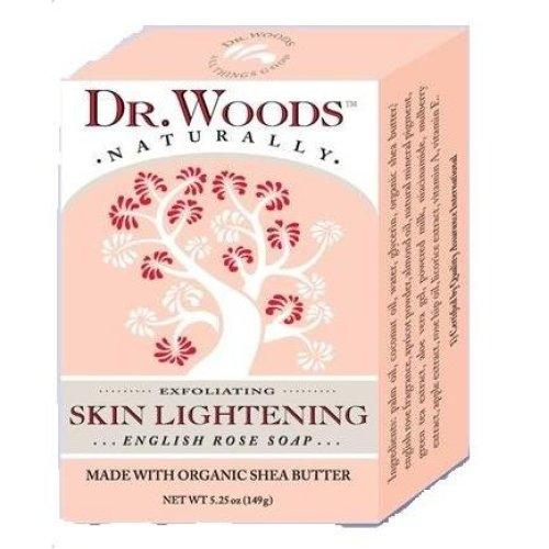 Dr. Woods Naturally Bar Soap Skin Lightening English Rose -- 5.25 oz