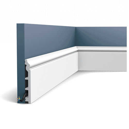 Orac Decor SX118F LUXXUS Flexible Skirting Panel Moulding Cable protection | 2 m