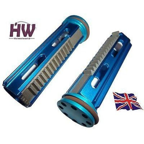 Airsoft Aeg Metal Piston & Head Full Steel Teeth  High Torque Aluminium Blue M4 V2