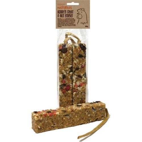 Henry's Naturals Chicken Treats Fruit & Nut Sticks 150g (Pack of 9)