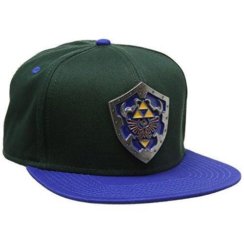 a7493b59b8 Meroncourt Nintendo Legend of Zelda Metal Hylian Shield Snapback Blue Baseball  Cap