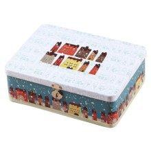Lovely Password Box Desktop Storage/Cosmetics Box Lock With Iron Box-Snow