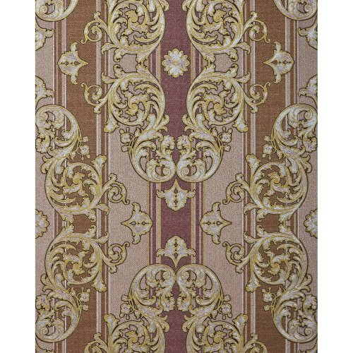 EDEM 580-34 Baroque-wallpaper metallic effect red-brown gold 5.33 sqm (57 ft2)