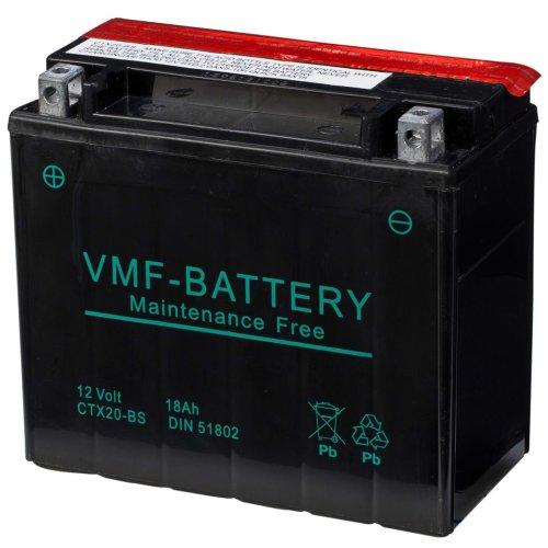 VMF Powersport Liquifix Battery 12 V 18 Ah MF CTX20-BS Long-lasting AGM Tech
