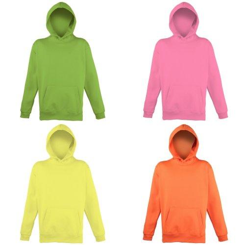Awdis Childrens Unisex Electric Hooded Sweatshirt / Hoodie / Schoolwear