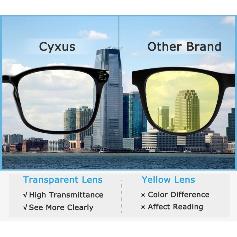 65f32dc7175d5 ... Cyxus Blue Light Filter Computer Glasses for Blocking UV Headache  Anti  Eye Fatigue  Vintage ...
