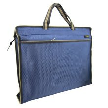 Oxford Jaquard Executive Document Bag Laptop Briefcase (33.5 x 28 x 6cm) BLUE