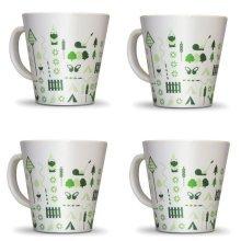 OLPRO Bewdley Melamine Mug Set (Pack of 4)