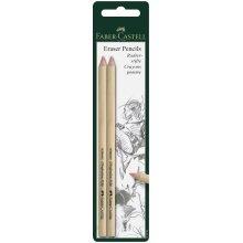 Faber-Castell Eraser Pencils x 2 (Pink)