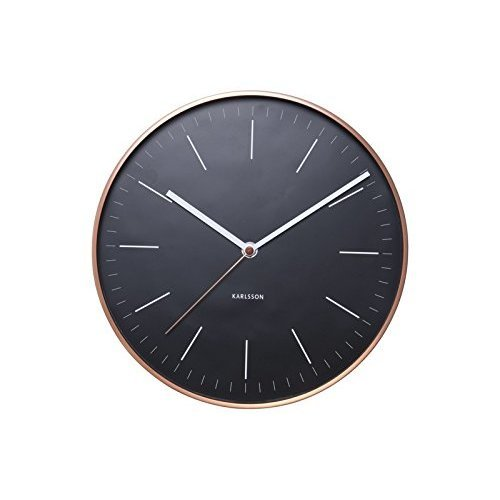 Minimal Wall Clock With Copper Surround by Karlsson