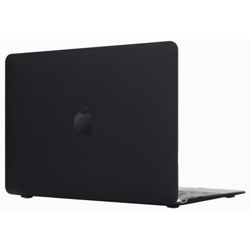 """IDEAPRO 12"""" Frosted Hardshell Case Cover Macbook 12"""" Retina Display  (Black)"""