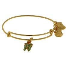Alex and Ani Cicada Beetle Charm Bangle Bracelet - Shiny Gold Finish - CBD16CAYG