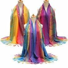 Women Cotton Bohemian Style Scarves Stole Shawl Wrap Scarf