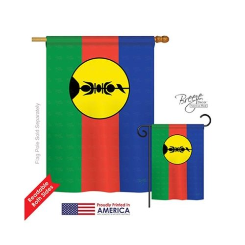 Breeze Decor 08349 New Caledonia 2-Sided Vertical Impression House Flag - 28 x 40 in.