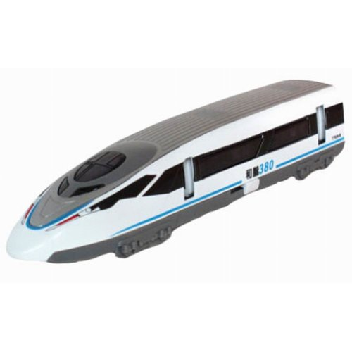 Simulation Locomotive Toy Model Trains Speed Rail 380, White (18*3.2*4.1CM)