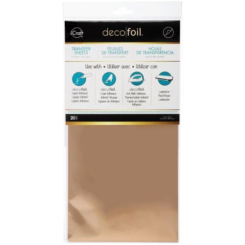 "Deco Foil Transfer Sheets 6""X12"" 20/Pkg-Rose Gold"
