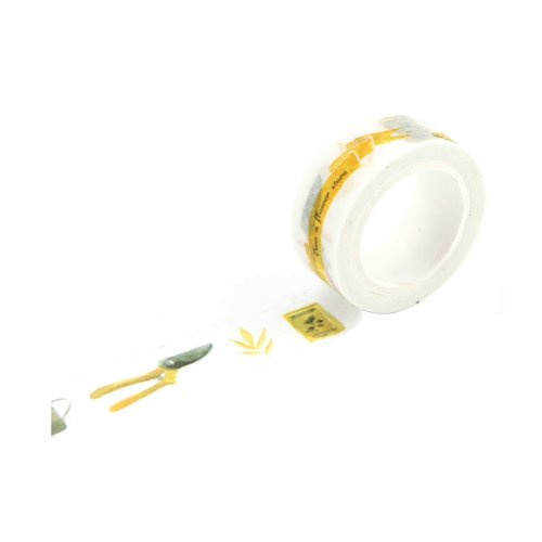Gardening Pattern Washi Masking Tape Sticky Paper Masking Adhesive Tape (Set of 6 Rolls)