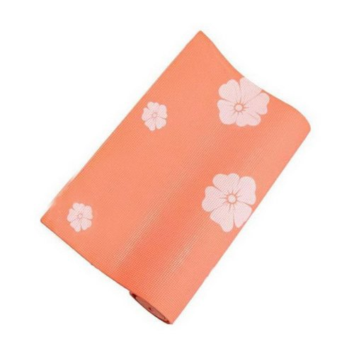 Rubber Yoga Mat Eco Print Yoga Exercise Mat 6mm (Orange)+ Mesh Bag