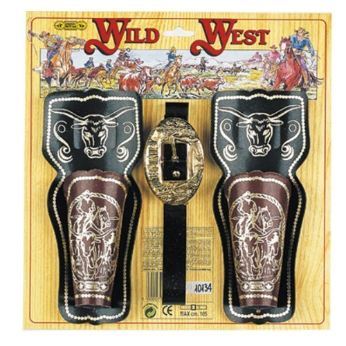 Belt with 2 holsters Wild West