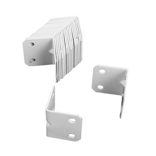 Sourcingmap a16080800ux0288 90 Degree Home Furniture Right Angle Metal  Corner Brace Plate Bracket - White (20-Piece)