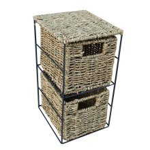 Mini Seagrass 2 Tier Storage Unit