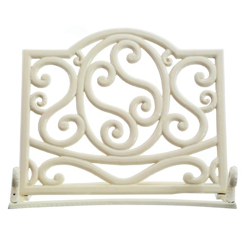 Cast Iron Cookbook Stand, Cream