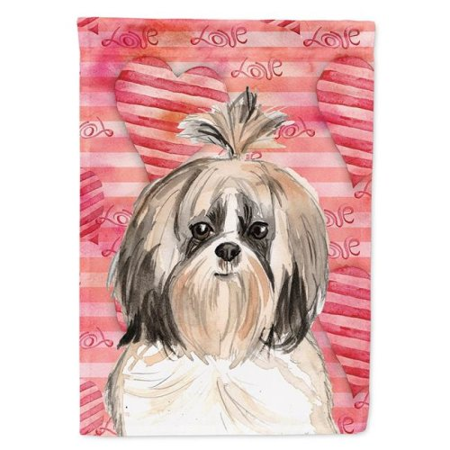 Carolines Treasures CK1752CHF Love a Shih Tzu Flag Canvas House Size