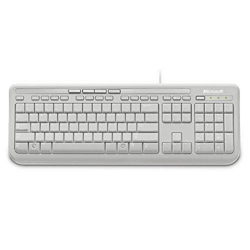 Microsoft Wired Keyboard 600 - White, UK Layout