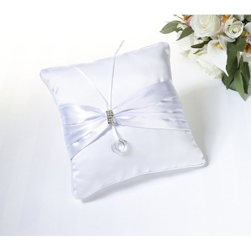 Rhinestone Pillow - White