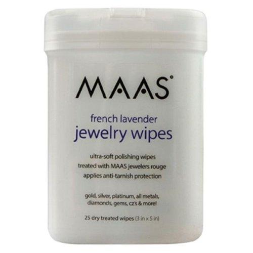 Maas International Inc 91558 25Ct. Jewelry Wipes - Lavender