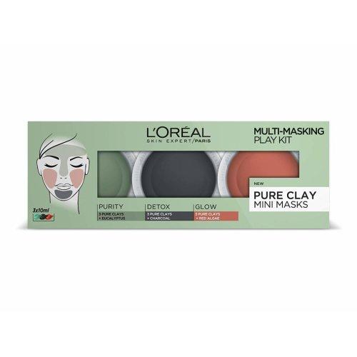 L'Oreal Pure Clay Mini Masks Multi-Masking Play Kit | Clay Mask Set