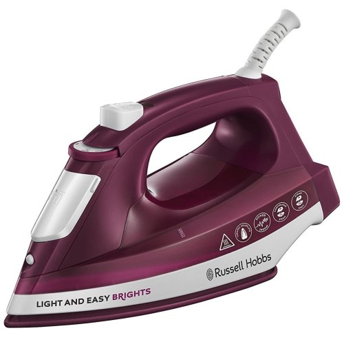 Russell Hobbs 24820 Light & Easy Brights Iron Ceramic Soleplate 2400W - Mulberry