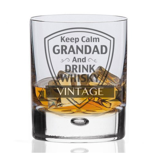 Whisky Glass - Keep Calm Grandad and Drink Whisky