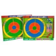 Childrens Safety Dart Board Set - Kids Plastic Target Dart 6 Darts Garden Toy -  childrens kids plastic safety dart board target dartboard 6 darts