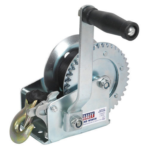Sealey GWW1200M 540kg Capacity Geared Hand Winch with Webbing Strap