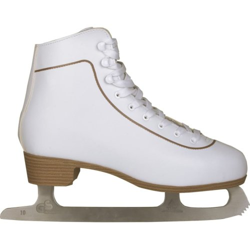 Nijdam Women's Figure Skates Classic Leather Size 41 Skating Boots 0043-WIT-41