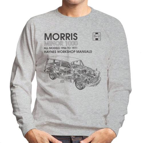 Haynes Workshop Manual 0024 Morris Minor 1000 Black Men's Sweatshirt