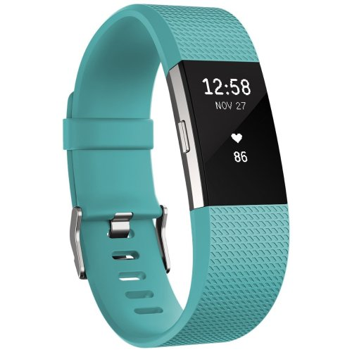 Fitbit Charge 2 Activity Tracker with Wrist Based Heart Rate Monitor - Teal/Large