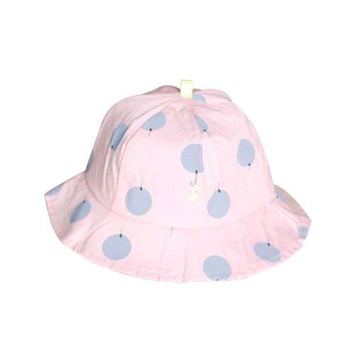 Sun-resistant Pure Cotton Comfortable Ventilate Bucket Hat/Kid Cap,Pink
