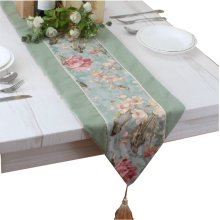 """71"""" by 13"""" Floral Rustic Table Runner Both-side Polyester & Cotton Table-runner"""