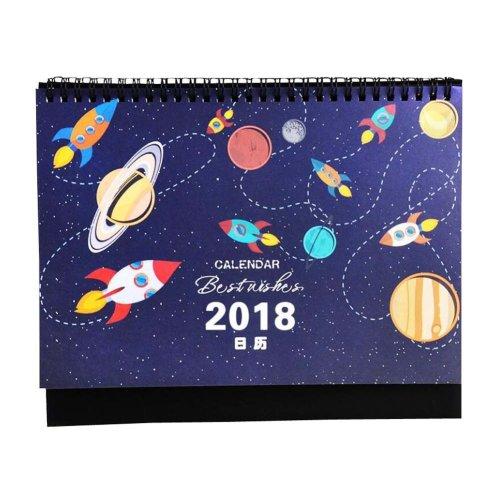 Creative and Practical Home/Office Calendar Student Calendar 2017-2018,Blue