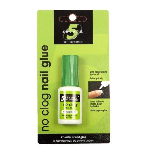 5 Second Nail No-clog Nail Glue, 3-Gram (Pack of 4)
