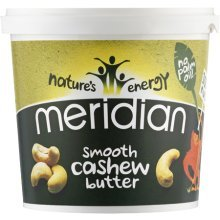 Meridian Natural Smooth Cashew Butter - 100% Nuts - 1000g
