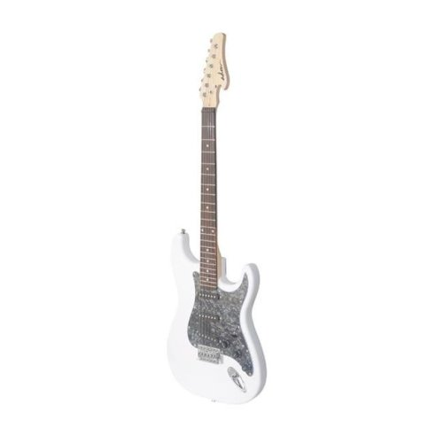 All Days Music EJ12R-WH Electric Guitar with Rosewood Fingerboard, White Gloss