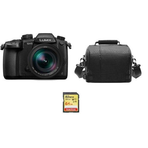PANASONIC DMC-GH5 Black KIT 12-60mm F2.8-4.0  Black+64GB SD card+Bag