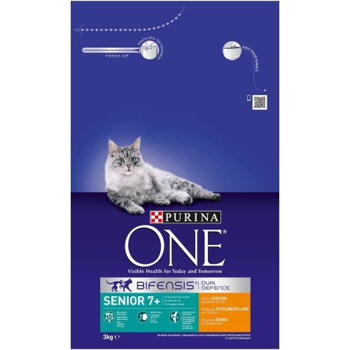 Purina ONE Senior 7+ Dry Cat Food Chicken 3kg