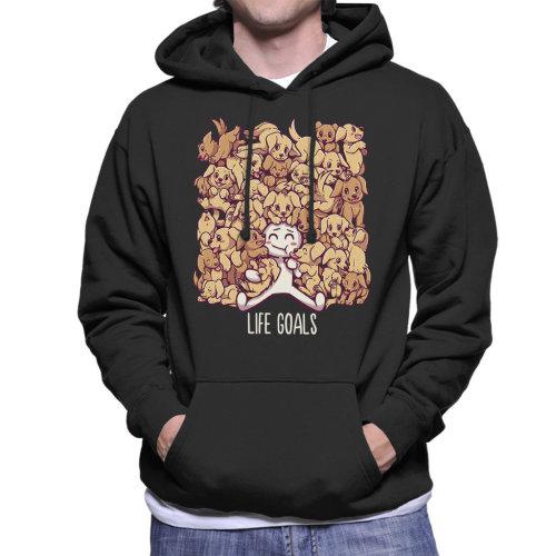 Life Goals Golden Lab Retriever Dog Lover Men's Hooded Sweatshirt