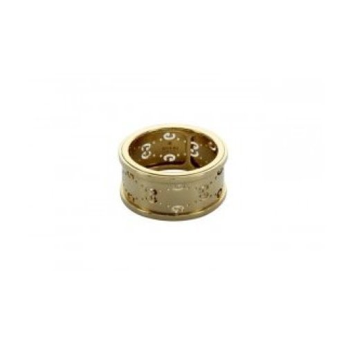 GUCCI RING ICON TWIRL GG 18KT YELLOW GOLD size 14 201985 J8500 8000