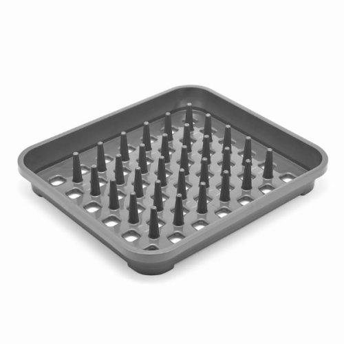 Addis Dish Draining Rack with Drying Pegs - Metallic Silver